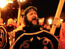 The Up Helly Aa festival, dating back to 1880, is not a battle cry but an ode to Scotland's history.