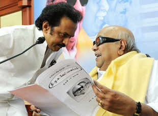 "DMK leader M K Stalin had on Thursday taunted the government by asking it whether it fit into Prime Minister Narendra Modi's mantra of better governance. ""Hindi is being imposed on 55% of non-Hindi speaking government servants & general public."