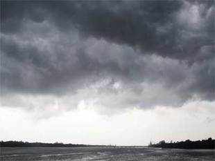 In an indication of a weak monsoon, the country received 45 per cent lesser rainfall that what was expectedin its first spell.