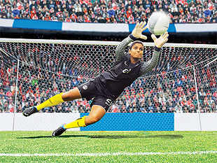 AditiChauhanis goalkeeper of the team that's ranked 50th in the Fifa rankings amongst 175 nations, against their male counterparts who are at a distant 154 in the pecking order.