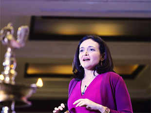 Facebook COO Sheryl Sandberg at an event in Delhi.