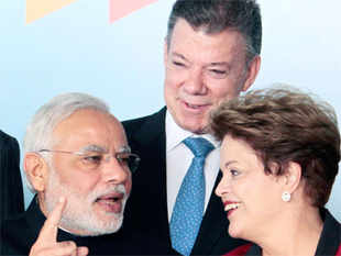 Modi has said the establishment of the BRICS development bank opens up newer opportunities of co-operation with nations of South America.