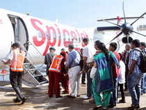 A day after Indian carrriers diverted all flights operating via Ukraine, SpiceJet said it has stopped flying to Kabul temporarily because of security issues.