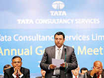The combined market cap of the other four IT players in the pecking order including Infy, Wipro, HCL Tech, and Tech Mahindra was Rs 4,88,066 cr.In pic: Tata Group Chairman Cyrus Mistry speaks during the Annual General Meeting (AGM) of Tata Consultancy Services (TCS) shareholders, in Mumbai.