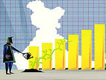 India's GDP slowed to sub-5 per cent in FY14, mainly due to collapse in investments and the growth is expected to pick up to 5.6 per cent in FY15, 6.5 per cent in FY16 and 7 per cent in FY17, Citigroup said.