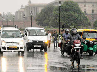 Central India, which was the driest region this year, received rainfall that was three times the normal level on Wednesday.