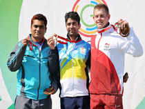 Bindra, who has already won nine medals including three gold in pairs events, was calmness personified as he did not put a foot wrong in the final round.