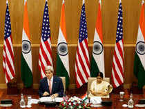 """""""Both countries consider each other as friendly nations & it will not be acceptable to us if one friendly country spies on another friendly country,"""" Swaraj told Kerry"""