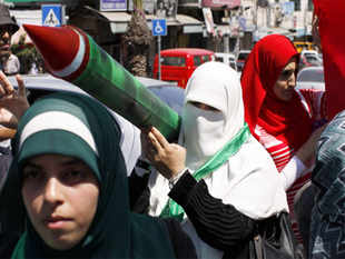 """There will be no going back, the resistance will continue,"" Hamas spokesman Fawzy Barhum said in a statement."