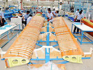 In pics: Employees work at Tata Lockheed Martin Aerostructures Ltd, on the outskirts of Hyderabad. (Reuters)