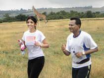 Uma and Krishna Prasad Chigurupati running in Kenya June 21, 2010
