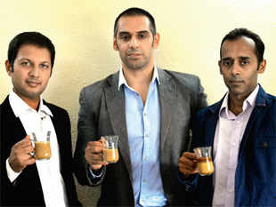 Tuhin Jain, Kunal Bhagat & Rohit Gupta ( Left to Right)