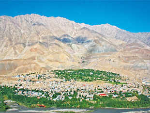 A view of the Kargil town.