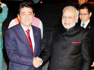 "Shinzo Abe and Narendra Modi are expected to affirm cooperation in ensuring a ""peaceful and stable maritime order"" in an apparent effort to curb Beijing's rising activity."