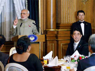 The decision to firm-up defence ties came after Prime Minister Narendra Modi held summit-level talks with his Japanese counterpart Shinzo Abe here.