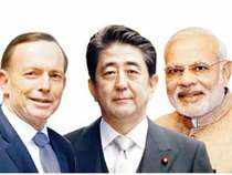Like Modi and Abe, Abbott represents a right-wing political constituency, has no-frills style and has made China's ascendancy central to his foreign policy.