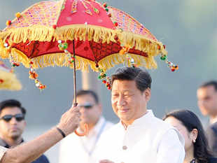 Chinese President Xi Jinping arrived in Ahmedabad on Wednesday on a three-day visit.