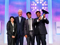 The prize was given away by former US president Bill Clinton and Muhammad Yunus, founder of the Grameen Bank in New York last evening.