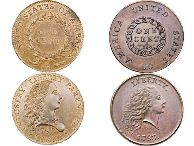 Rare 1792 1793 pennies sell for 2 6 mn mn for Valuable items to sell