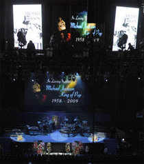 MJ's memorial service drew thousands of fans. Click on picture for more...