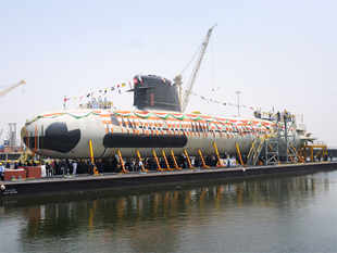 Scorpene submarine that was undocked earlier this year.