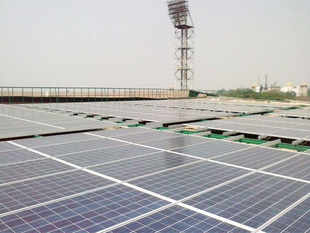Chandy inaugurated the 12 MWp solar power plant, comprising 46,150 solar panels laid across 45 acres near the cargo complex.