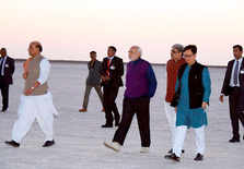 PM with Rajnath Singh, Kiren Rijiju