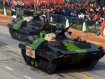 In pic: Army ICV BMP II SARATH roll past during the Republic Day parade in New Delhi.