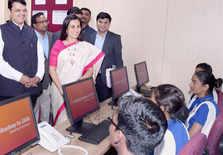 Chanda Kochhar, Devendra Fadnavis and in Mumbai