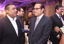 Mukesh Ambani with Vineet Jain