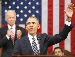 President Barack Obama endeavored Tuesday to lift Americans above the miasma of a brutally negative presidential campaign to reflect on what the nation has endured and achieved since he took office in the midst of a dire recession.
