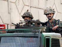 In pic: Security beefed up at Pathankot Air Force base during the visit of PM Narendra Modifollowing a recent attack by terrorists on the base.