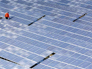 Companies have won the latest auction of solar energy projects with a higher tariff than the record low of Rs 4.34, reversing the trend of falling tariff.