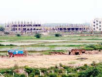 At Jaypee's 800-acre Wish Town, for instance, where construction started in 2008, prices have remained stagnant in the Rs 4,000-10,000 range.