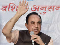 BJP leader Subramanian Swamy today approached Lt Governor Najeeb Jung seeking sanction to prosecute Arvind Kejriwal under Prevention of Corruption Act.