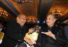 Anil Agarwal with Rahul Bajaj