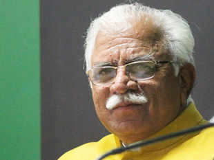 """Khattar was here to launch the second roadshow in the run up to """"Happening Haryana-Global Investors Summit 2016"""" at Gurgaon."""