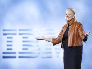 Rometty reached Bengaluru from Chennai, where she announced a string of steps for the company's operations in the city that were impacted by the December floods.