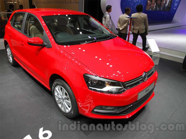 2016 vw polo showcased at the auto expo 2016 vw polo the economic times. Black Bedroom Furniture Sets. Home Design Ideas