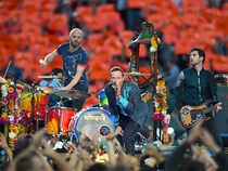 Looks like Coldplay frontman can't get enough of India. At the Super Bowl gig, the singer had something desi in his act.