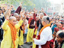Speaking in Allahabad where he was taking part in  Magh Mela, Swaroopanand Saraswati said ISKCON was being used to send money from India to foreign locations.