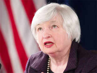 Federal Reserve Chair Janet Yellen warned Wednesday that the US economy faced risks from tightening domestic financial conditions as well as global economic turmoil.