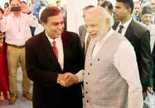 PM with Mukesh Ambani