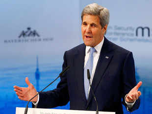 """US Secretary of State John Kerry said today that the mass influx of refugees and other migrants into Europe spells a """"near existential threat"""" to Europe."""