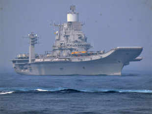 It's 44,500 tonnes of robust Indian diplomacy cruising on the high seas, hot on the trail of the Chinese in the Indian Ocean Region (IOR).