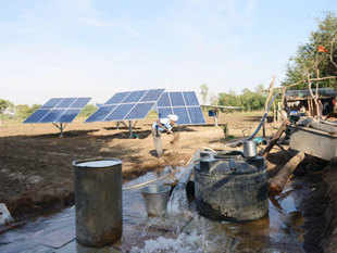 Solar power tariffs—which hit a low of Rs 4.34 per unit at a recent solar power generation bid—are likely to fall further with a reduction in solar companies' capital costs and their access to competitive funding, a new report says.