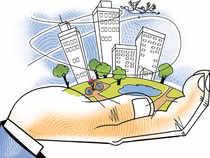 ICICI Bank took over about 275 acres, worth an estimated Rs 1,500-1,800 crore, in Noida and Greater Noida from Jaiprakash Associates Ltd.