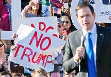 A supporter of Sen. Marco Rubio