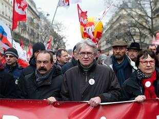 Several unions said up to half a million people took part in demonstrations across France, with the CGT union claiming 100,000 protested in Paris.