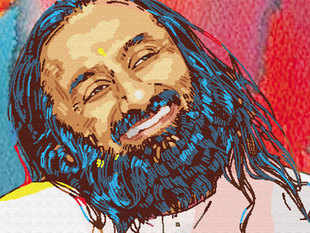 """In a left-handed compliment, Congress today said Sri Sri Ravi Shankar's """"blessings"""" have found the Prime Minister and Delhi Chief Minister on the same page backing the Art of Living event despite the """"ecological disaster"""" on the floodplains of Yamuna."""